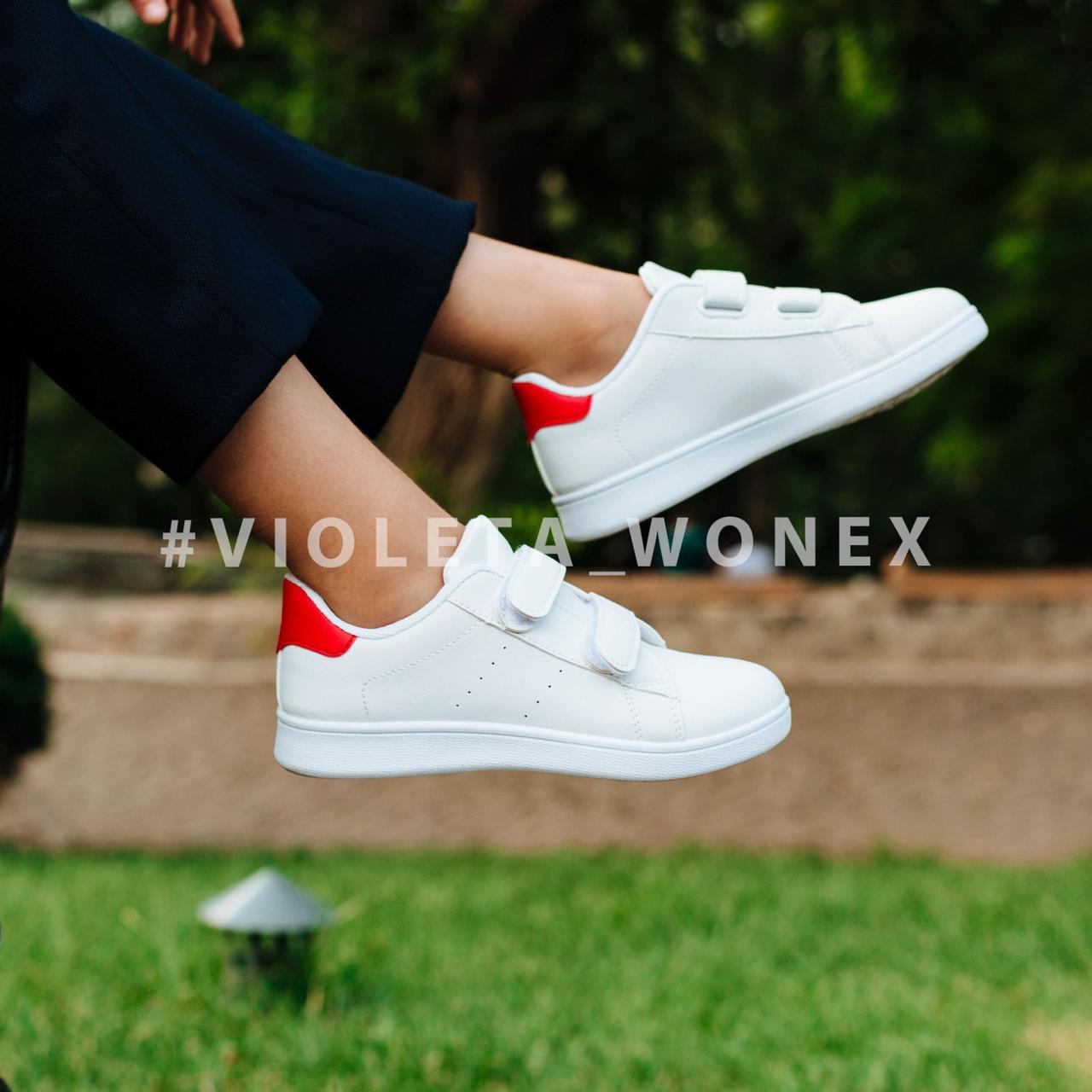 Кеды детские Violeta-Wonex 220-4 white-red
