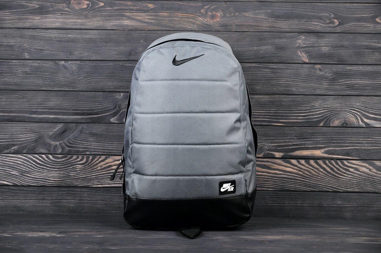 Рюкзак Nike серый. Стильный городской рюкзак Найк серого цвета.