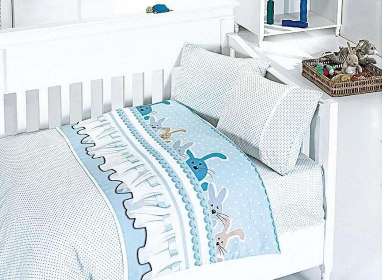Комплект постільної білизни FIRST CHOICE BAMBOO в дитячу ліжечко Зайчика