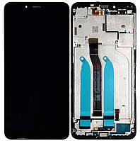 Дисплей Xiaomi Redmi 6 (HM6) / Redmi 6a Original 100% (Service Pack) with frame Black