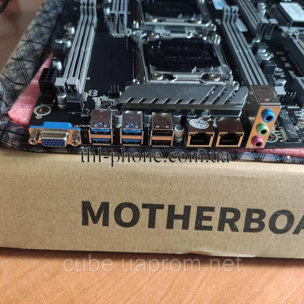 Комплект 2*2678v3 24 24 ядра JINGSHA X99-DUAL-D8 NVME M. 2 SSD DDR4 64 гб