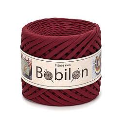 Трикотажная пряжа Бобилон Micro (3-5 мм) Burgundy Бордовое Бордо