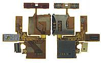Шлейф Sony Ericsson W380 / Z555 SIM + mmC