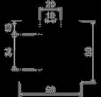 Станочный профиль T-track 60х60 без покрытия