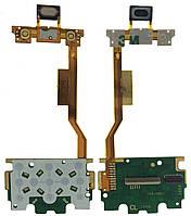 Шлейф Sony Ericsson W395 с платой клавиатуры и динамиком