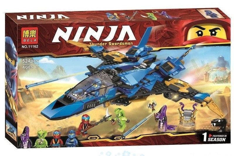 """Конструктор Ninja Bela 11162 """"Штормовой истребитель Джея""""  524 деталей"""
