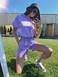 Літній спортивний костюм з шортами і вільної футболкою на гумці і з капюшоном 71051011, фото 6