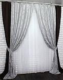 "Шторы из ткани блекаут ""Лён"" Код 014дк (291-546), фото 4"