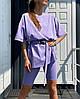 """Женский костюм с футболкой оверсайз и велосипедками """"Rocco"""", фото 7"""