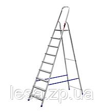 Драбина стрем'янка алюмінієва одностороння на 9 ступенів