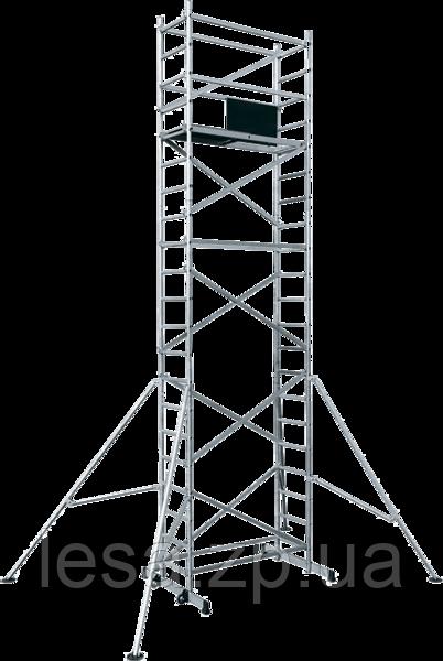 Вышка тура алюминиевая базовый комплект ВТ8 с надстройкой