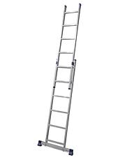 Лестница алюминиевая двухсекционная универсальная 2 х 7 ступеней, фото 2