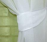 """Омбре"", ткань батист, под лён. На карниз 2-3м.  Цвет салатовый с белым 031дк 576т, фото 4"