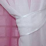 """Омбре"", ткань батист, под лён. На карниз 2-3м.  Цвет розовый с белым 031дк 575т, фото 4"