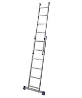 Алюминиевая двухсекционная универсальная лестница 2 х 6 ступеней