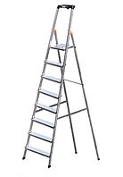 Лестница стремянка алюминиевая односторонняя на 8 ступеней