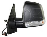Дзеркало ліве електро з обігрівом 6 pin з покажчиком повороту без підсвічування Single Glass Tour
