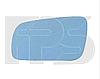 Вкладыш зеркала левый без обогрева асферич голубой BIG Ibiza Cordoba 1999-02