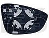 Вкладыш зеркала прав. с обогр. выпукл. Volkswagen Passat СС 2008-12