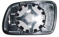 Вкладиш дзеркала лівий з обігрівом опуклий блакитне 307 2005-07