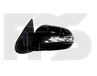 Зеркало левое электро с обогревом с указателем поворота без подсветки Hyundai Santa Fe 2006-09