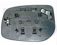 Вкладыш зеркала лев. с обогр. выпукл. квадратный крепеж Toyota Yaris 2006-11