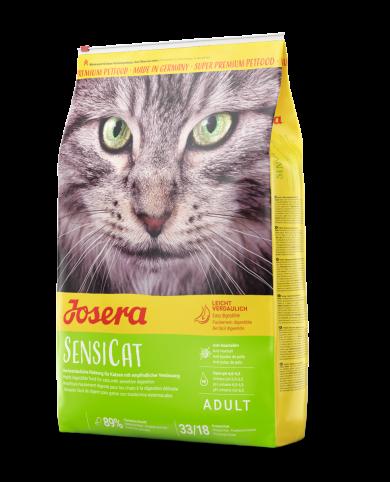 Josera SensiCat корм для кішок з чутливим травленням 2кг (качка,індичка) Сенсикет