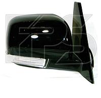 Зеркало левое электро с обогревом складывающееся глянцевое 7pin Pajero Sport 2009-15