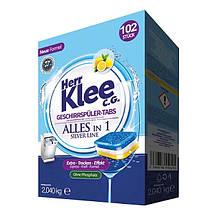 Таблетки для посудомоечных машин Herr Klee 102 шт