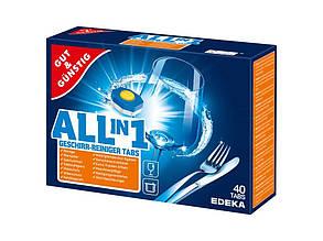Таблетки для посудомоечных машин G&G Power Aktiv All-in-1 40 таблеток (604)