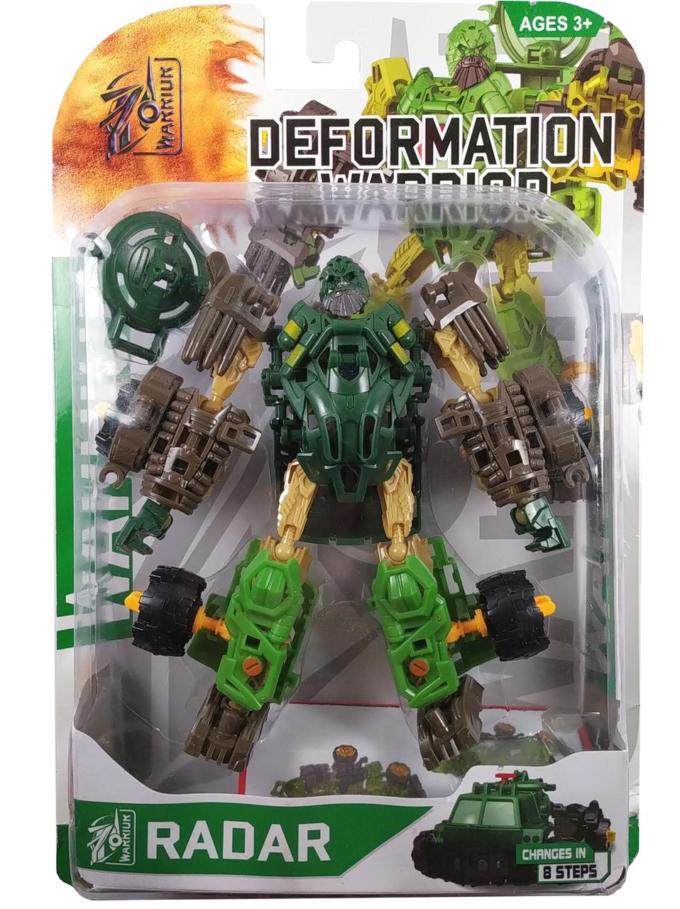 """Конструктор робот трансформер """"Deformation Warrior: Radar"""" 28см (зеленый)"""