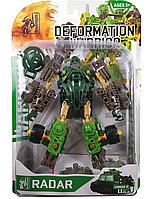 """Конструктор робот трансформер """"Deformation Warrior: Radar"""" 28 см Зеленый"""