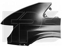 Крыло переднее левое без отверстия (повторитель на корпусе зеркала) для Ford Transit 2000-06