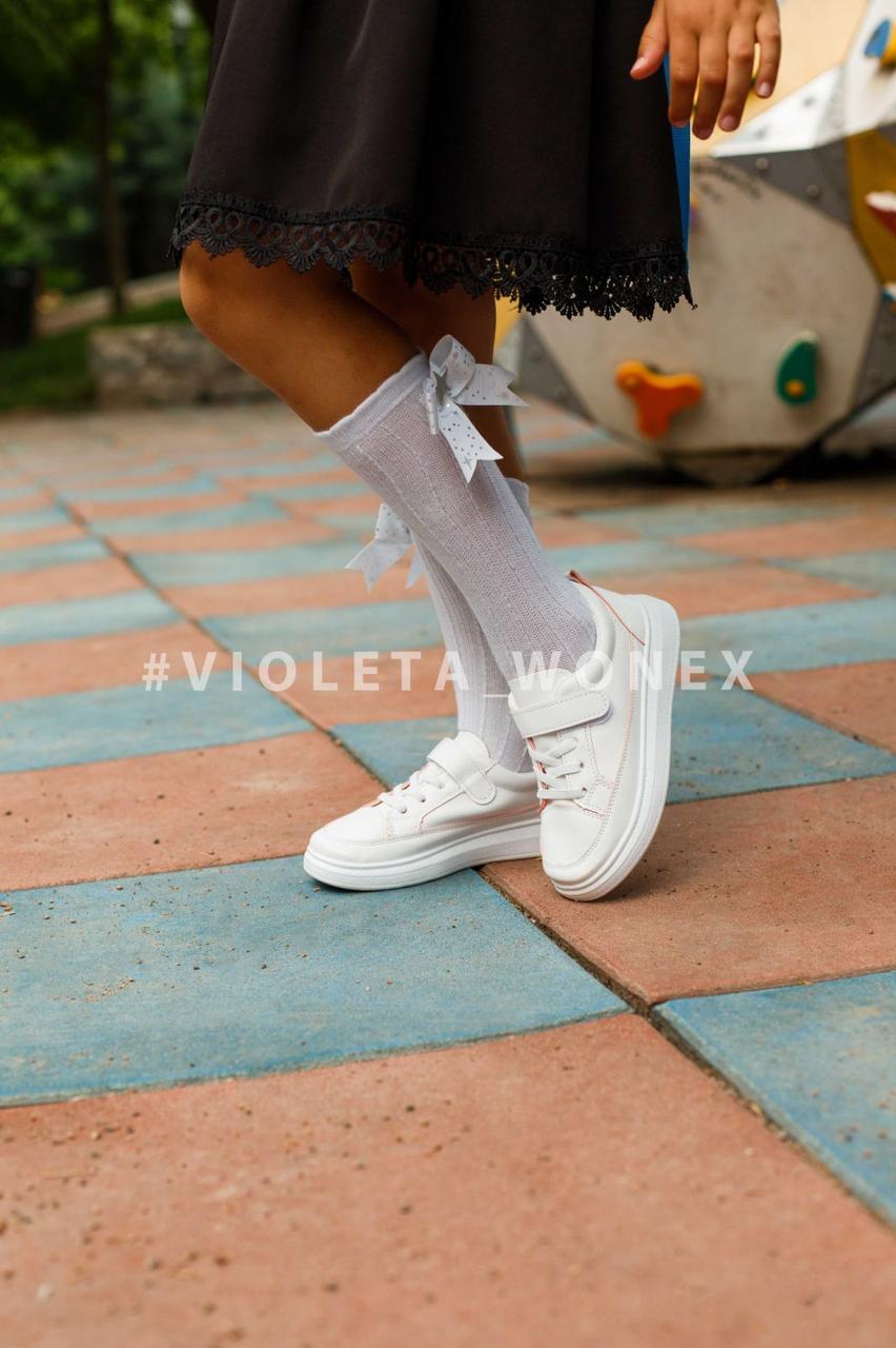 Кеды детские Violeta-Wonex 220-7 white-pink