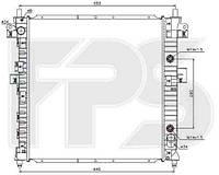 Радиатор охлаждения автомобильный основной SSANGYONG ACTYON 06-12/KYRON 05-