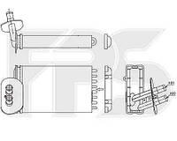 Радиатор печки автомобиля VW T4 90-03 (кроме CARAVELLE 96-)/T4 96-03 CARAVELLE / MULTIVAN