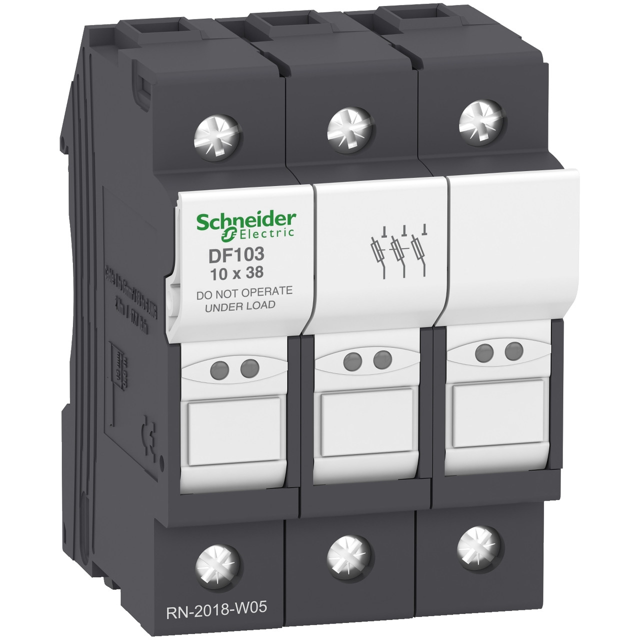 Разъединитель Schneider Electric DF103 3P 32A держатель цилиндрических предохранителей 10x38 мм TeSyS