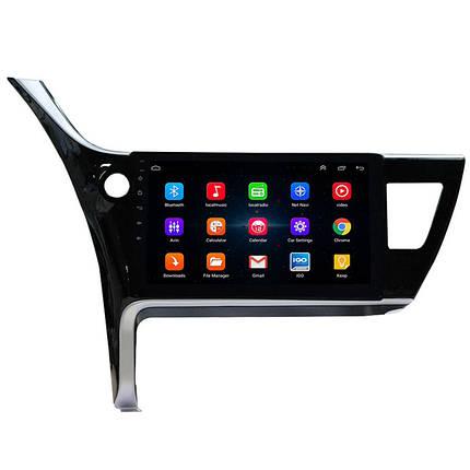 """Штатная автомобильная магнитола Toyota Corolla (2017-2018 г.в.) экран 10"""" память 1/16 GPS Wi Fi USB Android, фото 2"""