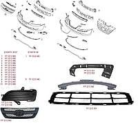 Молдинг-накладка решетки радиатора верхняя черная для Hyundai Sonata 2005-07 (NF)