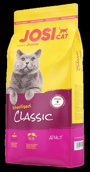 Josera JosiCat Sterilised Classic 0,65кг для стерилизованных кошек Стерелайзд с рыбой