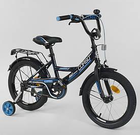 """Велосипед 16"""" дюймов 2-х колёсный """"CORSO"""" CL-16P6633 ЧЕРНЫЙ"""