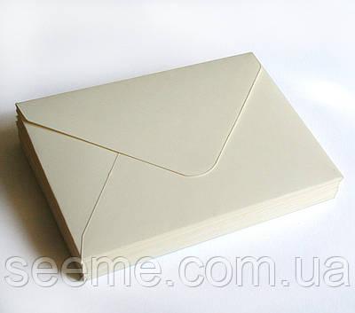Конверт 175x125 мм, колір магнолія