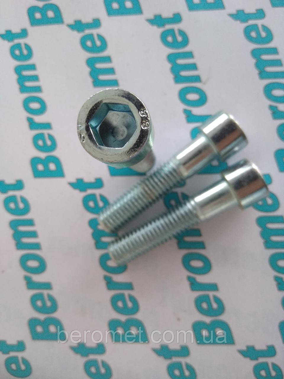 Болт М14*100 метричний з шестигранною голівкою і повною різьбою, кл.міц.8.8, DIN 933, оцинкований, М14*100