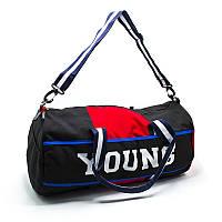 Спортивная стильная сумка YOUNG черная для зала и поездки
