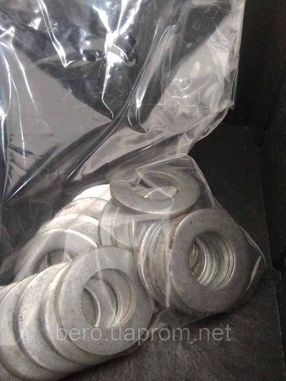 Шайба пласка, DIN 125, оцинкована, М14