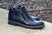 Зимові черевики дезерты чоловічі чорні шкіряні розмір 40, 41, 42, 43, 44, 45, фото 1