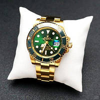 Механічні чоловічі годинники Rolex Submariner AAA Gold-Green Automatic ( AAA )