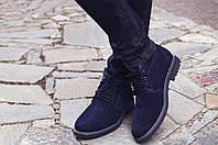 Зимові черевики дезерты чоловічі сині замшеві розмір 40, 41, 42, 43, 44, 45, фото 1