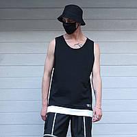 Майка мужская черная от бренда ТУР модель   Герас (Geras) размер: S, M, L, XL, фото 1