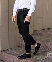 Брюки чиносы черные мужские бренд ТУР модель Стрендж (Strange) размер S, M, L, XL, фото 1